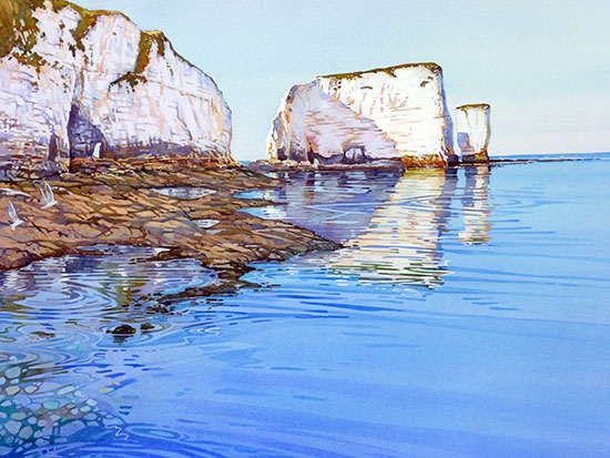 Low Tide at Old Harry £120 unframed