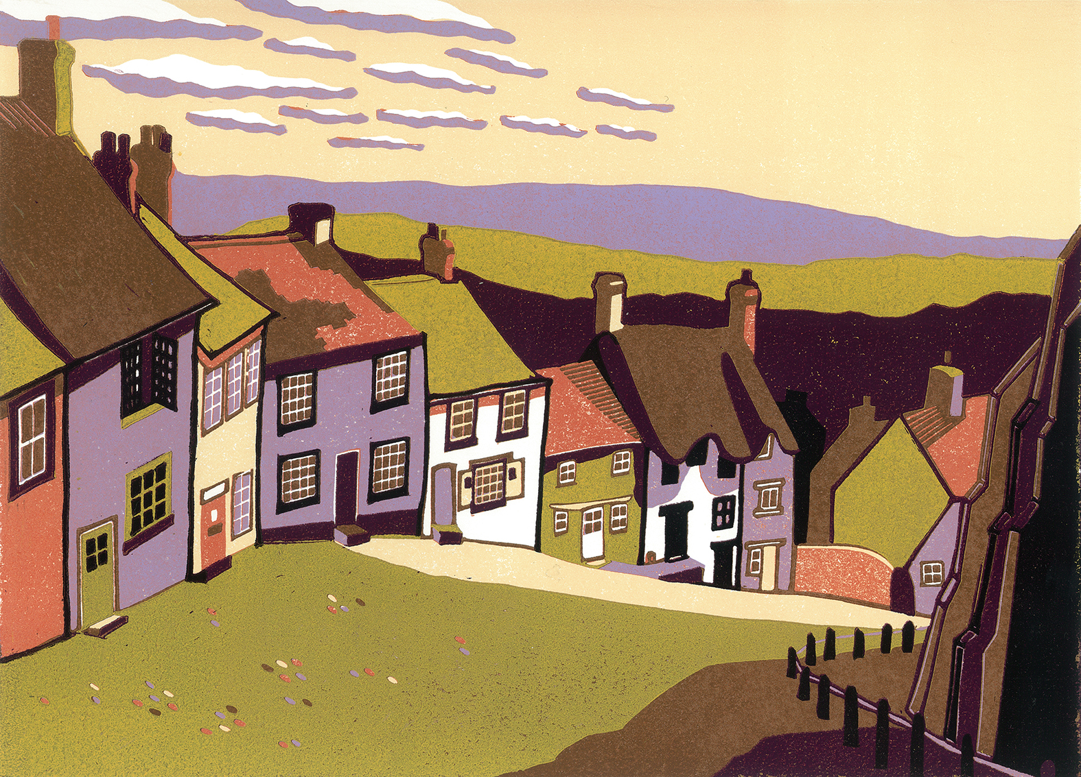 Gold Hill II £176   mounted