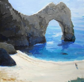 Joyce Ringrose Durdle Door £140 framed