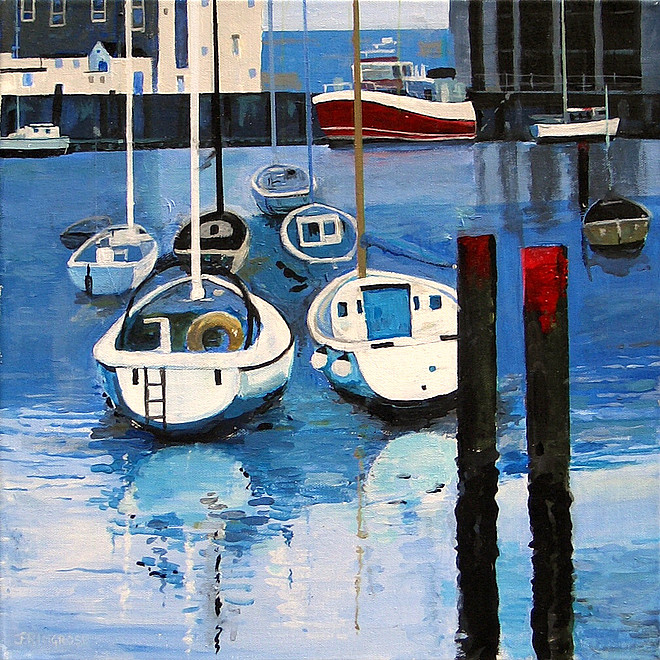 Joyce Ringrose Outer Harbour, Weymouth £96 unframed