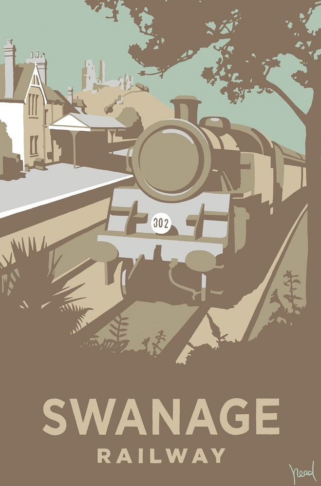 Steve Read, Swanage Railway £240 framed