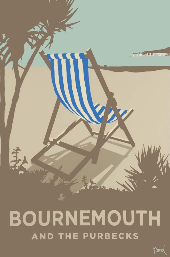 Steve Read, Bournemouth Blue Deckchair £240 framed