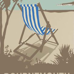 Bournemouth Blue Deckchair