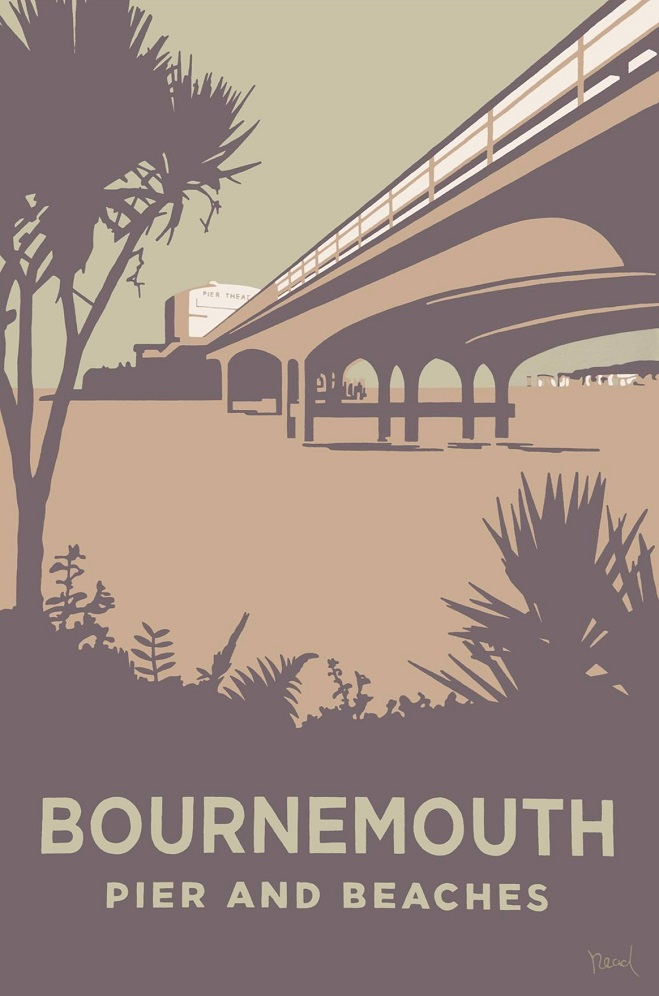 Steve Read, Bournemouth Pier and Beaches £240 framed
