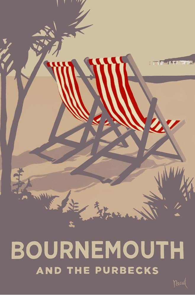 Steve Read, Bournemouth Red Deckchairs £240 framed