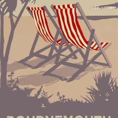 Bournemouth Red Deckchairs