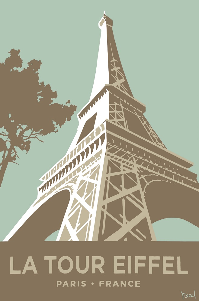 Steve Read La Tour Eiffel £240 framed