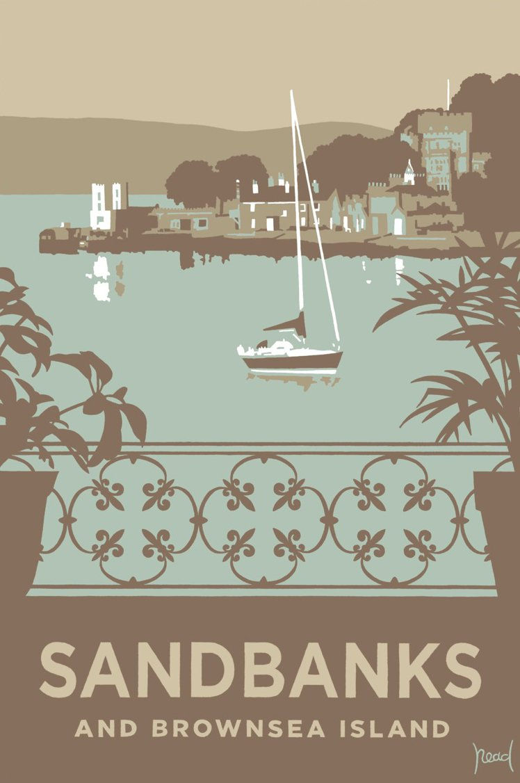 Sandbanks and Brownsea Balustrade